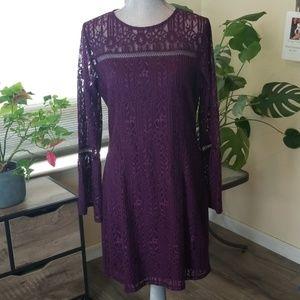 Beautiful eggplant lace dress NWT